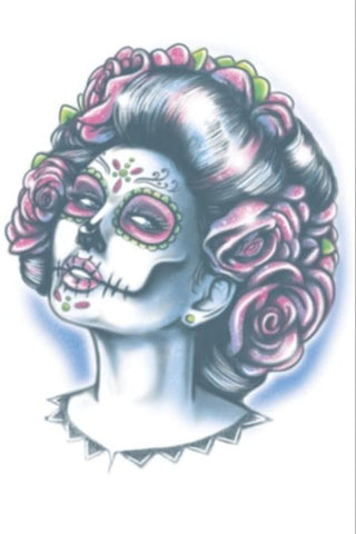 Day of the Dead - Senora Muerte - Temporary Tattoo