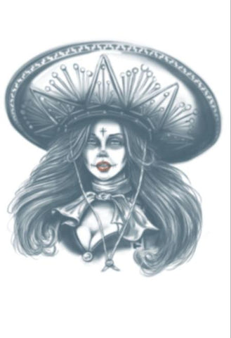 Day of the Dead Bandita Temporary Tattoo