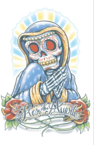 Day of the Dead - La Flor - Temporary Tattoo