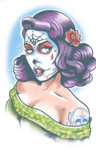 Day of the Dead - Lolita - Temporary Tattoo