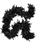 Extra fluffy classic black feather boa