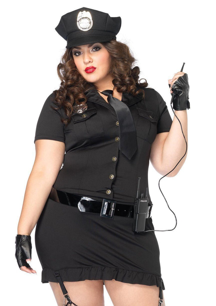 Dirty Cop Women's Sexy Police Officer Curvy Size Costume ...