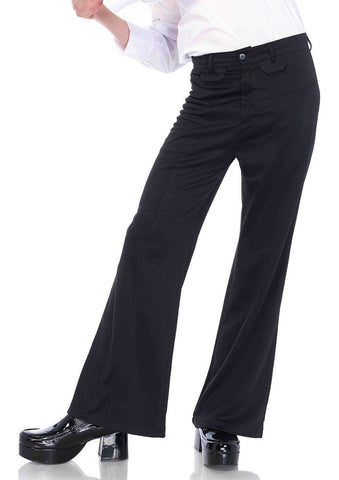 Flares Men's Retro 60's 70's Bell Bottom Disco Pants Black