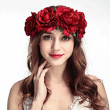 Flower Headband Oktoberfest Hair Garland Floral Crown Headpiece