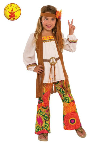 Flower Power 60s Hippie Costume for Girls