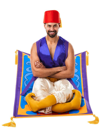 Genie Aladdin Flying Carpet Costume Adult