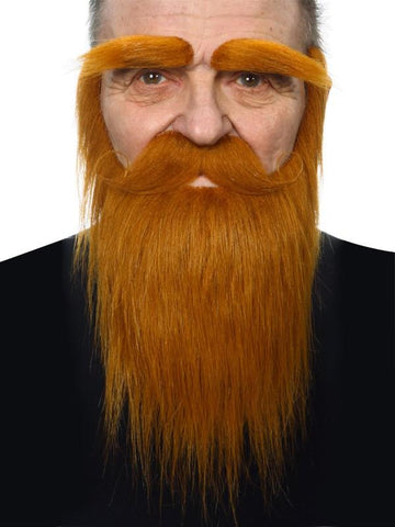 Ginger Stick On Long Beard and Eyebrows