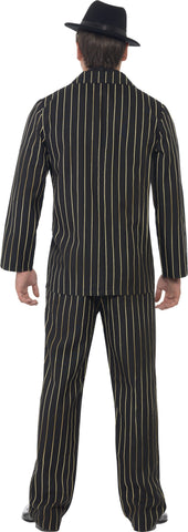 Gold Pin Striped 1920's Gatsby Gangster Mens 20s Costume back