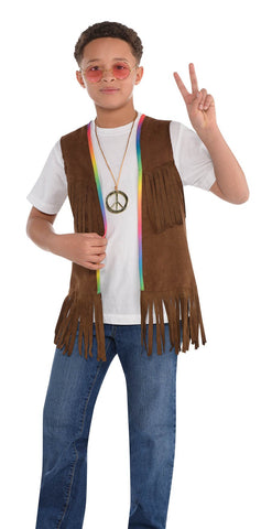 Groovy 60s Children's Fringed Hippie Vest