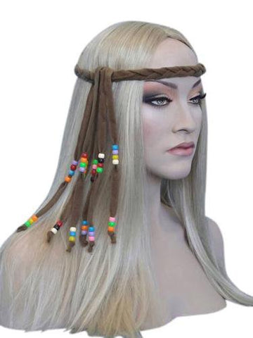 Hippie Costume Headband with Beads