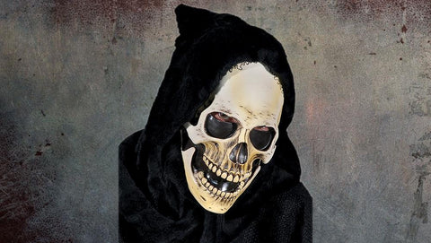 Hooded Grim Skull Mask