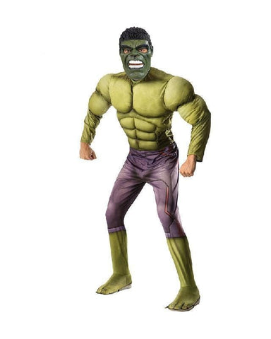 Hulk Avengers Muscle Adult Costume Marvel Halloween Fancy Dress