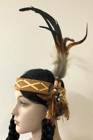 Indian Headband Pheasant Feather American Native Headdress