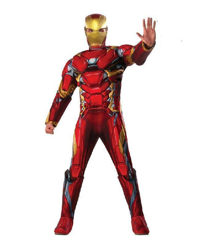 Iron Man Avengers Civil War Marvel Superhero Fancy Dress Adult Costume