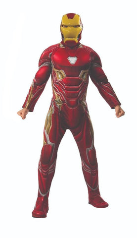 Iron Man Avengers Infinity War Deluxe Marvel Superhero Fancy Dress Adult Costume
