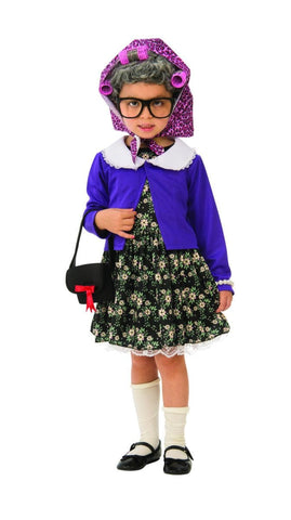 Little Old Lady Girls Fancy Dress Costume