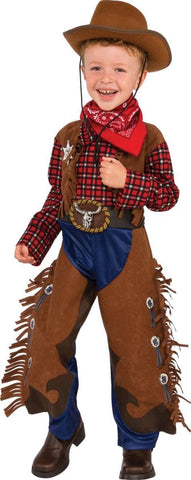 Little Wrangler Deluxe Cowboy Costume for Toddlers and Children