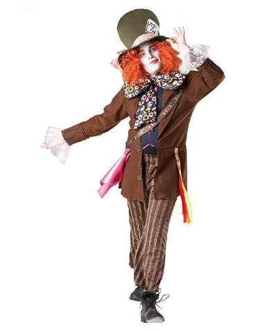 Mad Hatter Costume Licensed Disney Alice in Wonderland Fancy Dress