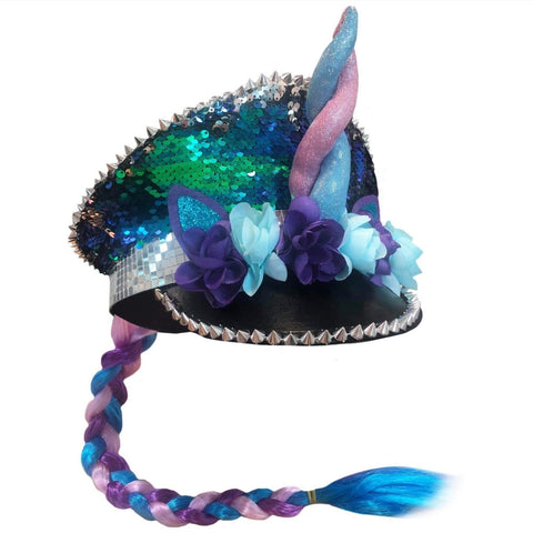 Mardi Gras Festival Hat Unicorn Sequin
