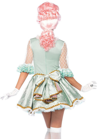 Marie Antoinette Deluxe Bastille Day French Woman Hire Costume back