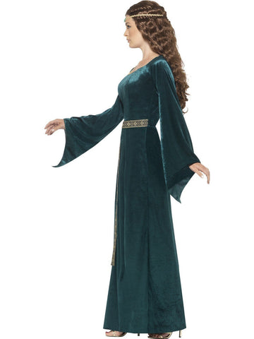 Medieval Maid Marion Emerald Fancy Dress Costume profile