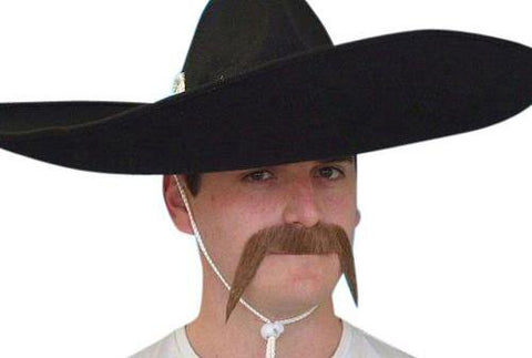 Mexican Brown Moustache Western Cowboy Bandit Costume Mo
