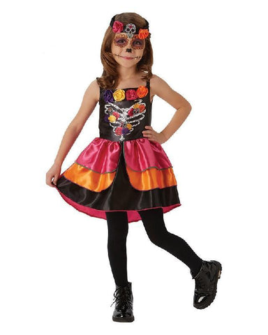 Mexican Day of the Dead Sugar Skull Girls Halloween Costume
