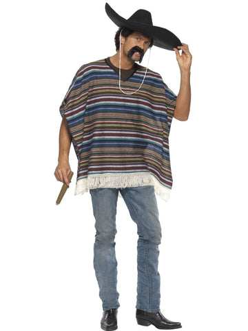 Costumes Men - Mexican Poncho Authentic Style Adult Costume