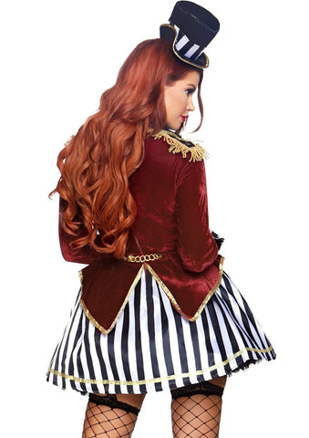 Night Ringmaster Women's Circus Costume back