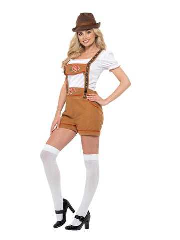 Oktoberfest Sexy Bavarian Beer Girl Lederhosen Costume side