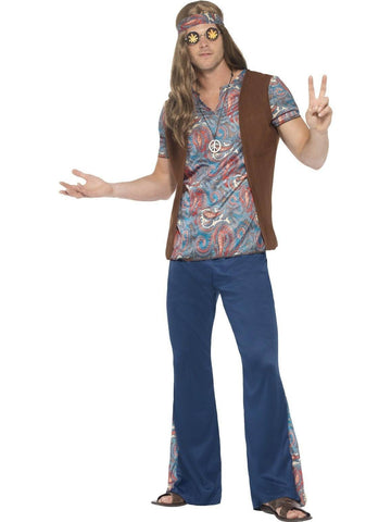 Hippie Mens 60s Fancy Dress Costume