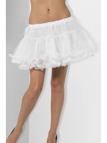 Petticoat Short White Tulle Double Layer Satin Lined Petticoat