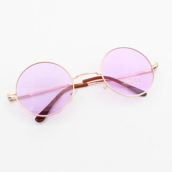 Hippie Pink Round Glasses Rock Star Costume Sunglasses Disguises Costumes Hire Sales