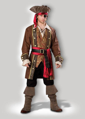 Pirate Captain Skullduggery Mens Hire Costume