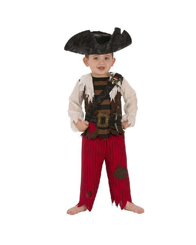 Pirate Matey Deluxe Pirate Costume for Toddlers and Boys