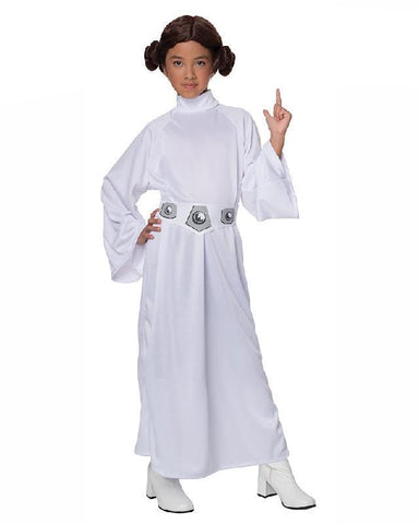 Princess Leia Child Girls Star Wars Fancy Dress Licensed Party Costume