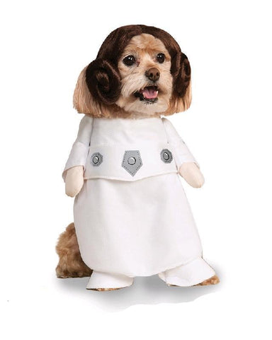 Princess Leia Dog Dress Up Star Wars Pet Costume
