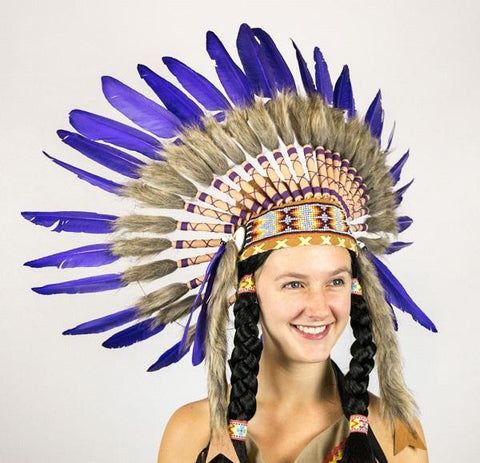Purple Indian Native American Headdress