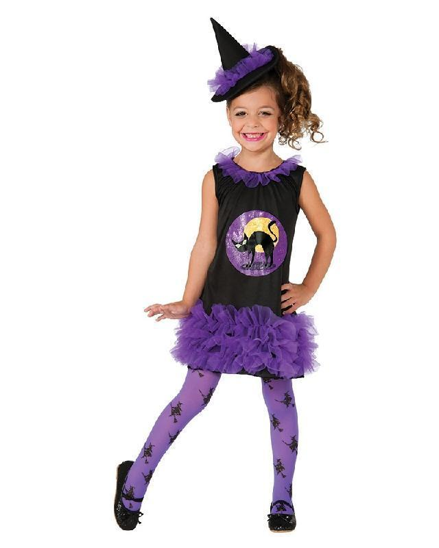 Tutu Witch Black Cat Toddler Girls Halloween Costume Disguises Costumes Hire Sales