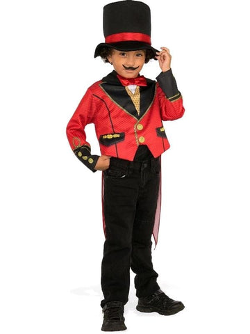 Ringmaster Deluxe Toddlers and Children's Fancy Dress Circus Costume