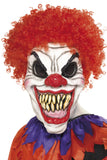 Scary Clown Mask with Red Curly Hair