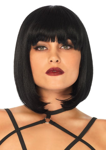 Black Natural Bob Women's Wig