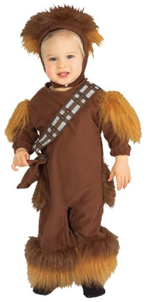 Licensed Fleece Star Costume Chewbacca Wars Toddler Baby Romper Fc13TKJul5