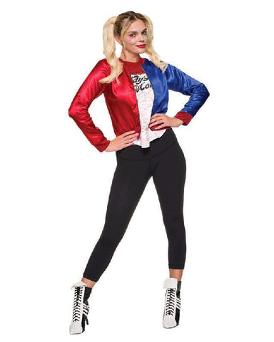 Suicide Squad Harley Quinn Women's Bomber Jacket Fancy Dress Costume