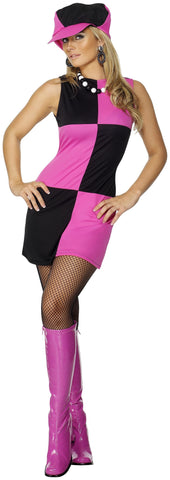 Swinging 60s Mod Girl Black and Pink Groovy Go Go Costume