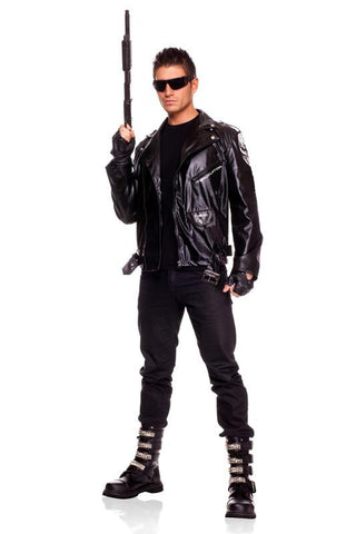 The Terminator Mens Jacket Costume Licensed Fancy Dress