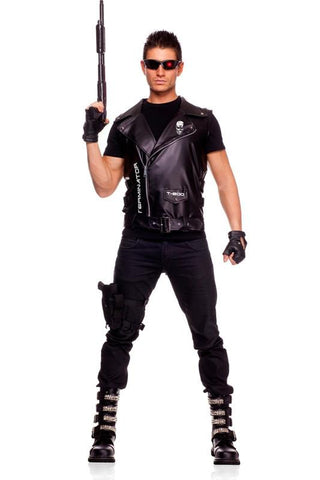 The Terminator Mens Costume Vest Licensed Fancy Dress Halloween Outfit
