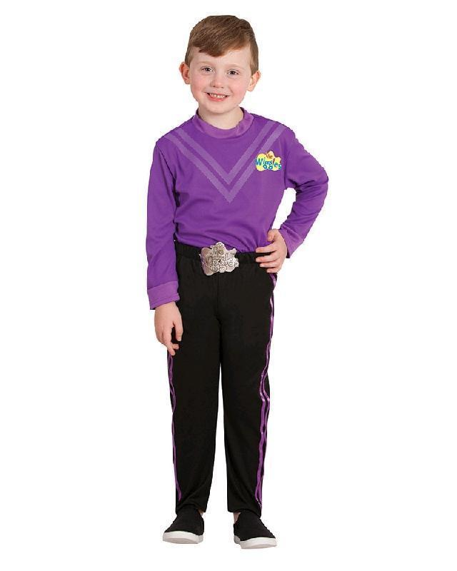 The Wiggles Purple Lachy Children\'s Deluxe Book Week Dress Up Costume