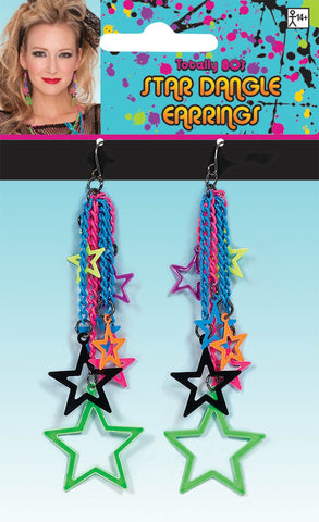 Totally 80s Star Dangle Earrings
