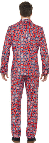 Union Jack UK Swinging 60s London Men's British Suit back